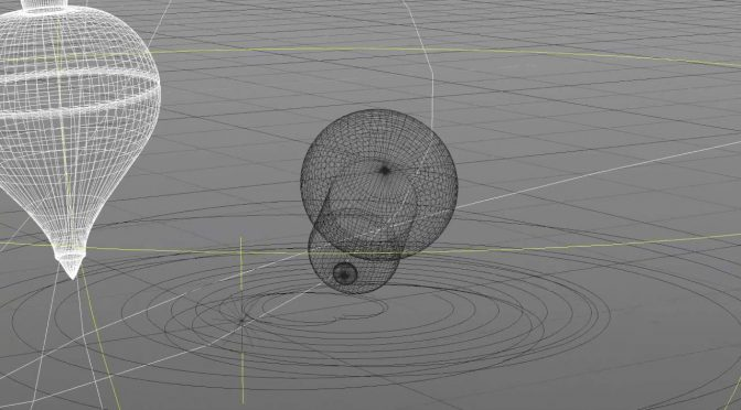 Animation 'Circle' 3D wireframe render